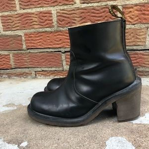 Dr Martens Heeled Leather Boots
